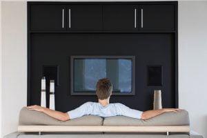 Backdrop tv minimalis